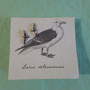Seagull bird sterling silver earrings BRAND NEW